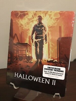 Halloween II Limited Edition Steelbook (Blu-ray/DVD, OOP) Factory Sealed