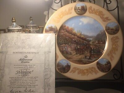 Seltmann Weiden collector's plate with certificate of authenticit