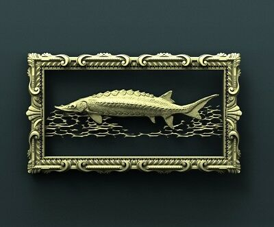 3d STL Model Relief for CNC Router  _ (0279) Fish