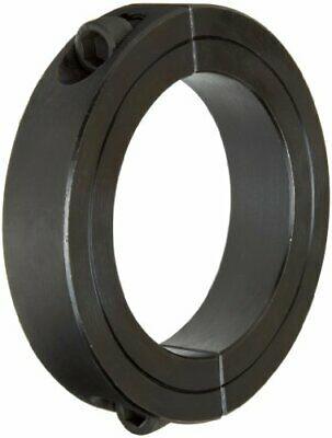 """Climax Metal 2C-200 Steel Two-Piece Clamping Collar, Black Oxide Plating, 2"""" Bor"""