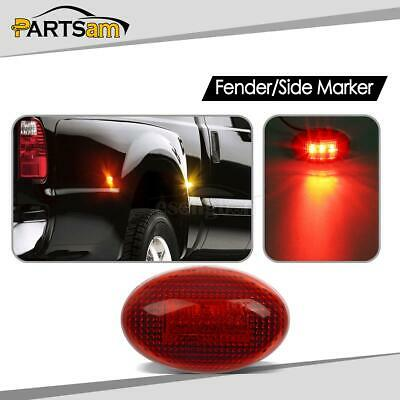 4x Amber Side Fender Dually Bed Marker LED Lights for Ford F350 F450 1999-2010