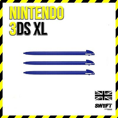 3x Blue Plastic Stylus Drawing Writing Pens for Nintendo 3DS XL