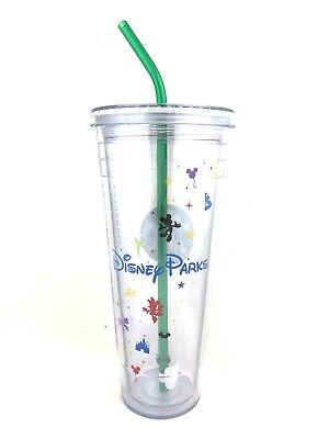 NEW Disney Parks Starbucks 1st Edition 24oz Venti Travel To-Go Tumbler Cold Cup