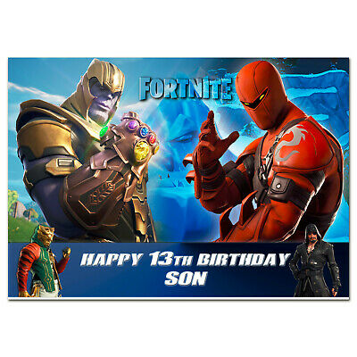 b775; Great Personalised Birthday card; *With ANY name age text*; FORTNITE
