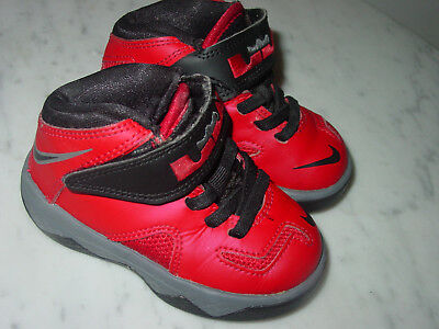 911d92cb90e7 2013 Nike Lebron Soldier 7 University Red Black Cool Grey Toddler Shoes!  Size