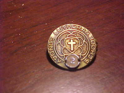 1/10-10% Gold Filled Concordia Religious Lutheran Sunday School 2 year pin
