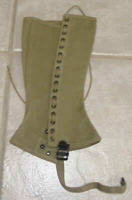 WWII US Canvas Legging, Dismounted M-1938 Size 2R