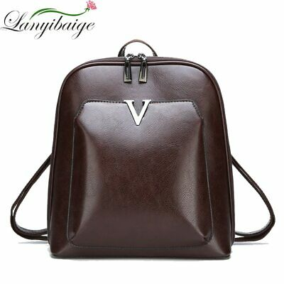59cae81ef Women Leather Backpack Vintage Luxury School Bag Vintage Leisure Shoulder  Bags