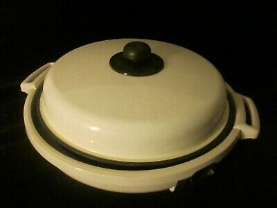 "Dazey Round-A-Bout 14"" Electric Chef Skillet Griddle Fry Pan Pizza DMG-100"