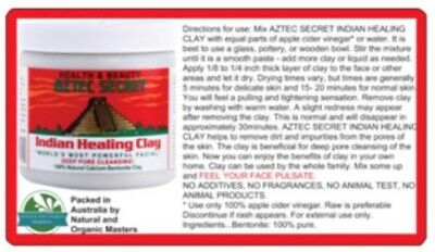 ✅Aztec Indian Healing Clay FACIALS ACNE PORE Cleaning Mask - FAST SHIPPING!
