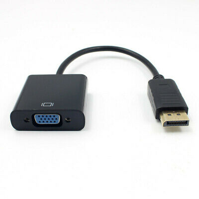 Black DP DisplayPort Male to VGA Female Converter Adapter Cable For PC Laptop