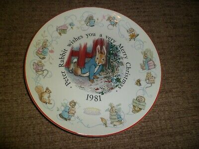 Bright Wedgwood Peter Rabbit Christening Set Bowl/cup/plate/money Box China & Dinnerware Pottery & China
