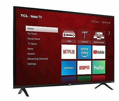 49 Inch LED TV Smart Roku TCL Television Home Entertainment 1080p Full HD 2019