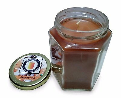 Gingerbread Scented 100 Percent  Beeswax Jar Candle, 8 oz
