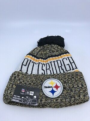 eb1f680c384 Pittsburgh Steelers New Era Knit Hat On Field 2018 Sideline Beanie New With  Tag