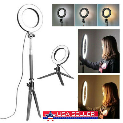 US LED 3 Modes 40W 5500K Dimmable Studio Camera Ring Light Photo Phone Video HOT