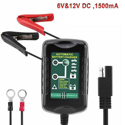 Battery Charger Maintainer 6V 12V Amp Volt Trickle fits RV Car Truck Motorcycle