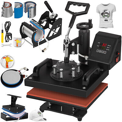 8in1 Digital Heat Press Machine Transfer Clamshell Heat Transfer T-Shirt