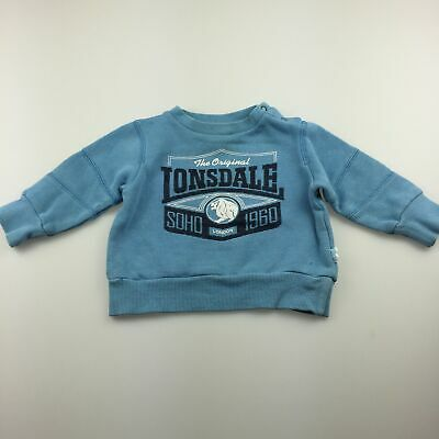 Boys size 00, Lonsdale, blue sweater / jumper, GUC