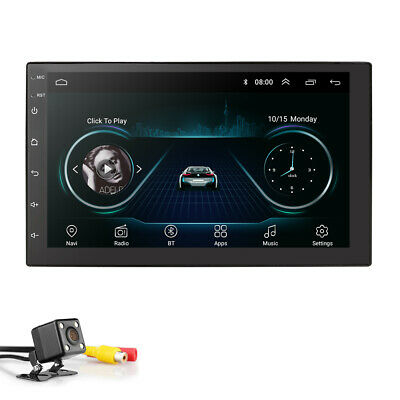"""Android 8.1 Car Stereo GPS Navigation Radio Player Double Din WIFI 7"""" HIFI AM FM"""