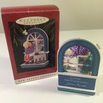 1993 New Advent Calendar with Box Vintage Hallmark Keepsake Christmas Ornament