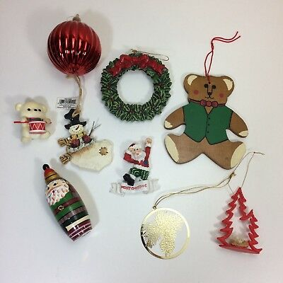 Lot of 9 Vintage and Modern Christmas Ornaments New and Used All Nice Condition