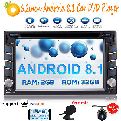 "Android 8.1 Oreo Octa Core Double 2 Din HD 6.2"" WIFI 4G GPS Car Stereo DVD Radio"