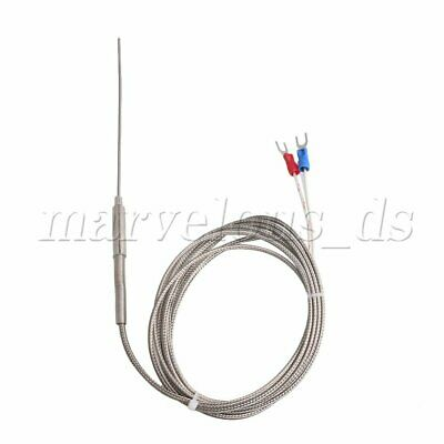 K Type Thermocouple Temperature Controller Stainless Steel Sensor Probe 2m