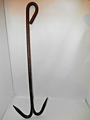 Antique Wrought Iron Meat Hook Butcher Shop Blacksmith Hand Forged