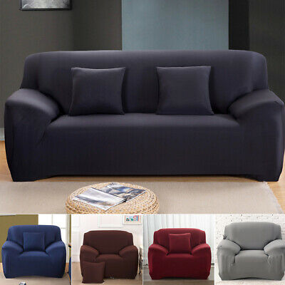 1 2 3 4 Seater Stretch Sofa Cover Couch Lounge Recliner Slipcover Protector NEW
