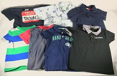 Toddler Boys Short Sleeve Shirt Lot of 7 Button Front Polo Size 24 Months