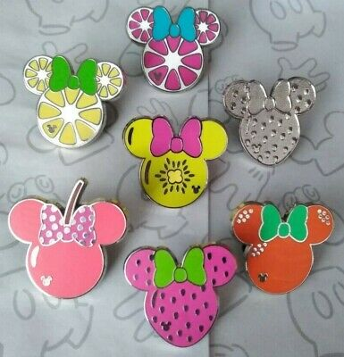 Minnie Mouse Fruit Icons 2017 Hidden Mickey DLR Disney Pin Make a Set Lot