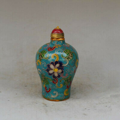 Top-grade Antique collection cloisonne snuff bottle Chinese old exquisite