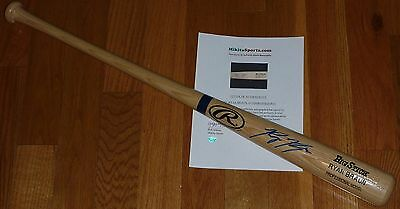 Milwaukee Brewers Ryan Braun Autographed Signed Pro Model Baseball Bat Holo COA