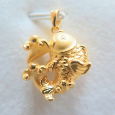 1g Pure 999 24K Yellow Gold New Arrival Lucky 3D Eagle Paw Bead Pendant