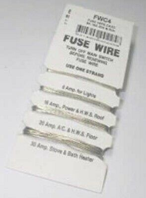 2x Tobin Electrical FUSE WIRE CARDS WITH 8A/16A/20A/30A Average Melt *Aust Brand