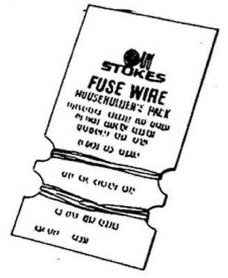 Stokes FUSE WIRE CARD 8A 16A 20A & 30A Average Melt *Australian Brand