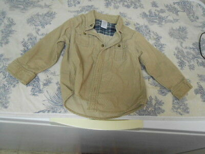 Gymboree Children's / Boys Khaki Corduroy Long Sleeve Button Down Shirt