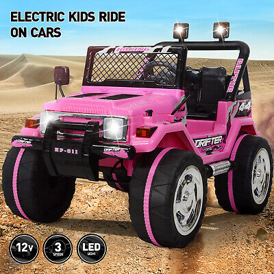 6cb6b7d34d1c Electric 12V Kids Powered Ride On Car Toy Jeep Battery Wheel Remote Control  Pink
