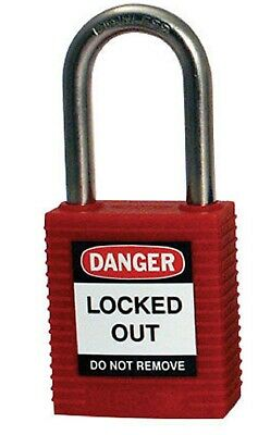 Brady COMPACT LOCKOUT PADLOCK 34x32x16mm Spark Resistant, Reinforced Nylon RED