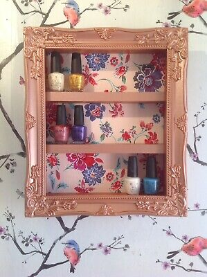 wall mounted nail polish Racks/storage Salon Shelf Retail Furniture Fabric Back