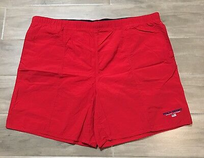 3033c0fdcc Vintage Polo Sport Ralph Lauren Swim Trunks Shorts Red Logo Pristine Lined