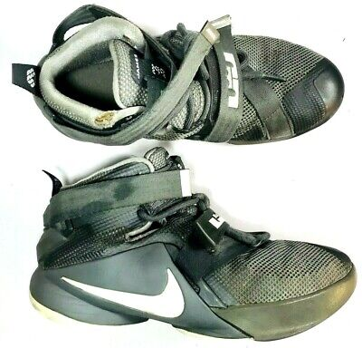 7ada2cbe91ef1 Nike Lebron 23 Soldier IX Youth Kids Gray White Shoes Sneakers 4.5Y 776471 -003