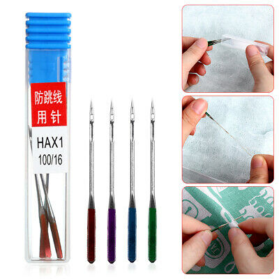 3x Anti-Jumping Elastic Needles for Sewing Machine Weaving Craft Mending Tool