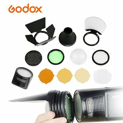Godox H200R Round Flash Head + AK-R1 Accessories Kit Honeycomb for AD200 Flash