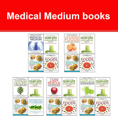 Medical Medium books set Celery Juice & Green Smoothie Recipe, Hashimoto Thyroid