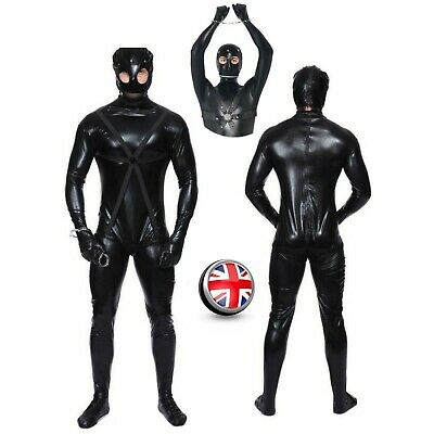 Adult Mens Gimp Suit Costume Funny Comedy Stag Night Cosplay Fancy Dress Outfit