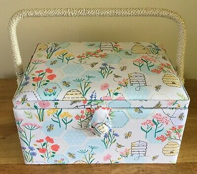 Sewing Basket Box 'Sewing Bee' Design Medium Super Quality