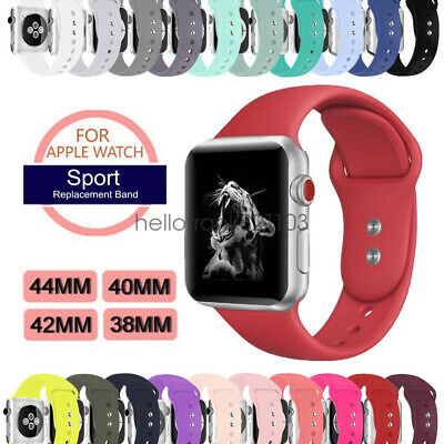 Silicon Sport Bracelet Strap pour Apple Watch Series 4 3 2  Band 44mm 42mm 40mm