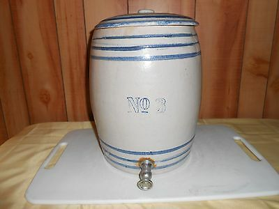 No. 3 Early Spigot water Cooler Crock with Lid